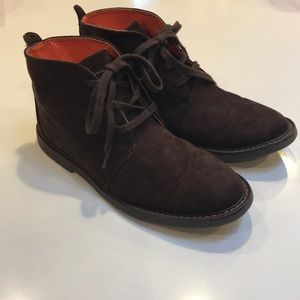 Boys Cole Haan brown suede boots